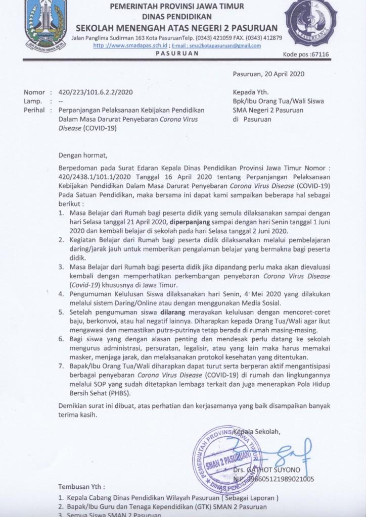 surat perpanjangan covid 2 juni 2020